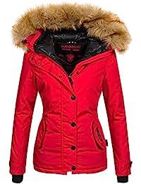 Navahoo warme Damen Winter Jacke Winterjacke Parka Mantel Kunstfell B392 92bef4a5db