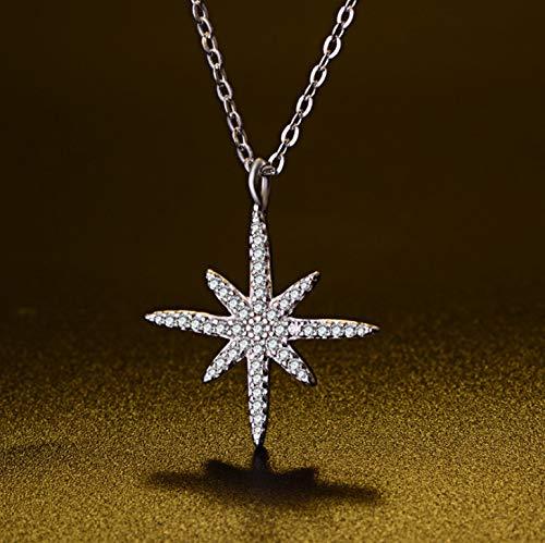 Achteckige Form Imitation Diamant Halskette Kette, Halskette Geschenk Halskette Anhänger Halsband für Frauen, Geschenke Halskette Geschenke Geburtstagsgeschenke, schöne Liebe Halskette Exquisite