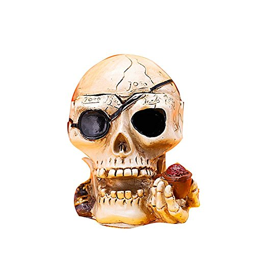 AIKE Aschenbecher Skull Aschenbecher Mode Ornamente personalisierte Zigarette Cup Aschenbecher mit Deckel Zigarette Aschenbecher für Home Office Hotel kreative Geburtstagsgeschenk Halloween Geschenk