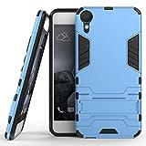 SsHhUu HTC Desire 10 Lifestyle Hülle, Stoßsichere Dual Layer Hybrid Tasche Schutzhülle mit Ständer für HTC Desire 10 Lifestyle (5.5