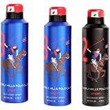 Beverly, Hills Polo Club 8 & 2 Fragrance Spray For Men Set Of 3