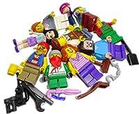 10 x Lego Sistema Figure Town City Mini Figura con Accessori Mann Frau Zufällig Misto - Egli Tratta Trova Del 10 Figure con Zufälliger Selezione - Prodotto LEGO sciolto originale in un sacchetto di plastica senza confezione originale e istruzioni.