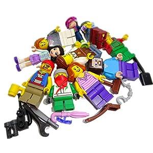 Bausteine gebraucht 10 x LEGO Sistema Figure Town City Mini Figura con accessori uomo donna zufällig misto Giocattolo LEGO