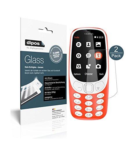 dipos I 2X Panzerfolie matt passend für Nokia 3310 Schutzfolie 9H Bildschirmschutz-Folie