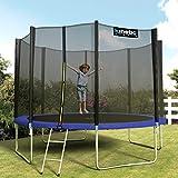 Kinetic Sports Outdoor Gartentrampolin Komplett-Set inkl. Sicherheitsnetz Randabdeckung Leiter Abdeckplane - 2