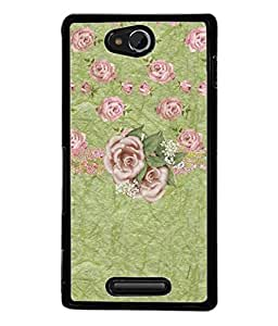 Fuson Designer Back Case Cover for Sony Xperia C S39h :: Sony Xperia C C2305 (Rose Flowers Buds Garden )