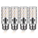 E27 LED 15W LED Mais Birne Lampe Entspricht Glühbirnen 120W Nicht dimmbar 3000K Warmweiß 1500Lm Kleine Edison-Schraube Kerze Leuchtmittel Led Maiskolben (4er-Pack)