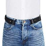 """VBIGER Cintura Senza Fibbia per Uomo Donna Cintura Elastica Invisibile per Jeans 155cm Larghezza 1.4""""Adatta da 39"""" -59"""""""
