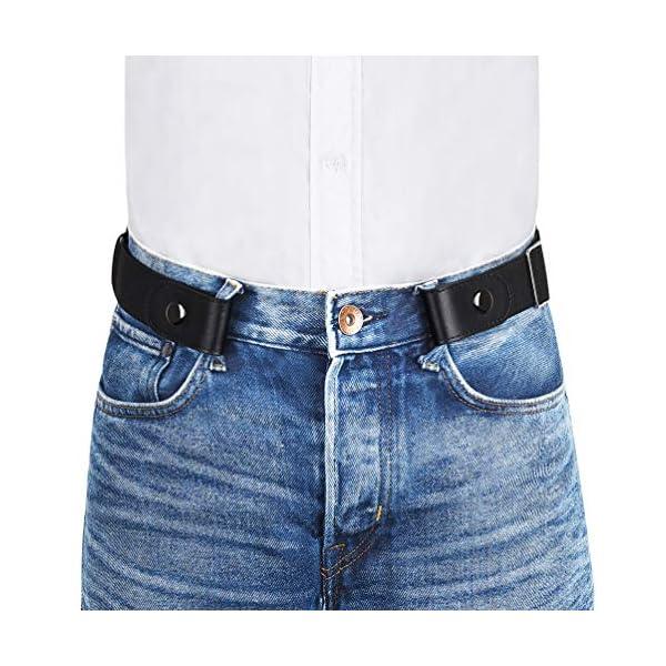 VBIGER Cintura Uomo Donna Cintura Senza Fibbia per Uomo Donna Cintura Uomo Elastica Jeans Larghezza 1 spesavip