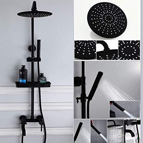 XLST Duschsystem mit Duschset Duscharmatur Regendusche Mit Spritzpistole, Schwarz