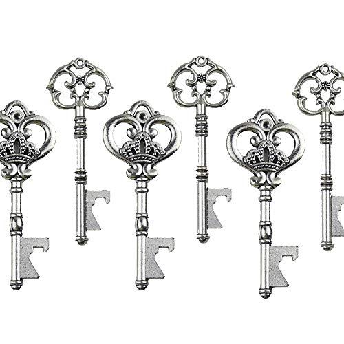 Misto 20 extra large argento antico apribottiglie chiave per souvenir della festa nuziale - 2 stili