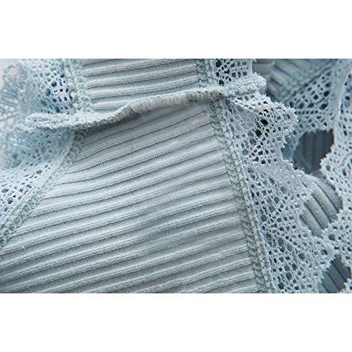 Haodou String mit Spitze Damen Unterhose Baumwolle Unterwäsche Reizvolle Wäsche durchsichtige Tanga G-Schnur Schlüpfer Damenwäsche Dessous Länge 21cm (hellgrün) - 6
