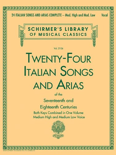 24 Italian Songs & Arias Complete