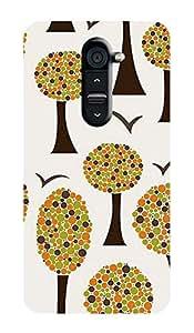 ZAPCASE PRINTED BACK COVER FOR LG G2 - Multicolor
