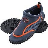 Deuba Wasserschuhe Badeschuhe Surfschuhe Aquaschuhe Strandschuhe Damen Größe 39 grau/orange