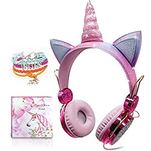 Auriculares Unicornio para Niños, Auriculares