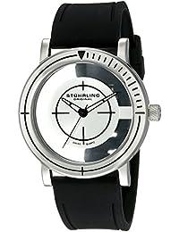 Stührling Original 879.01 - Reloj analógico para hombre, correa de caucho, color negro