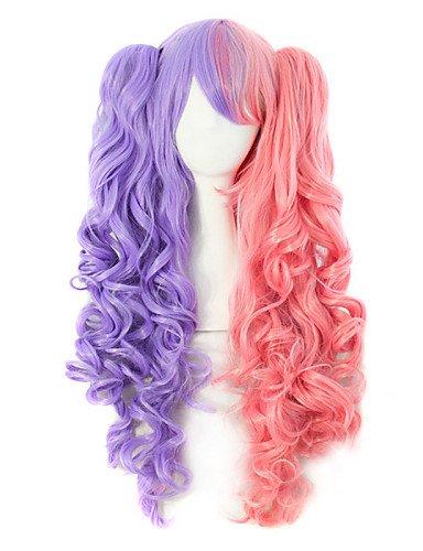 Fashion wigstyle hochwertigem Nylon Haar lockiges Haar Fashion Farbe Girl notwendig Perücke auf Verkauf ()
