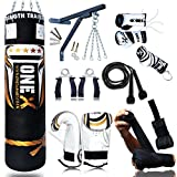 New 15 Pieces Boxing Set 5ft Filled Heavy Punch Bag Gloves,Chains,Bracket,Kickboxing MMA Water Proof Bag