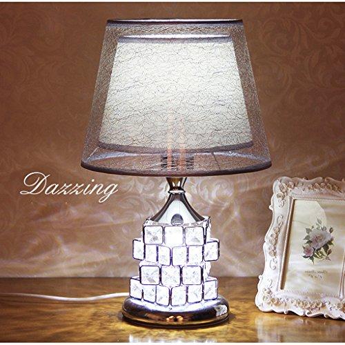 Table Tissu CréativecouleurSilver Lampe Simple Moderne De Chevet Cristal Frelt Et En rBdWQoCxEe
