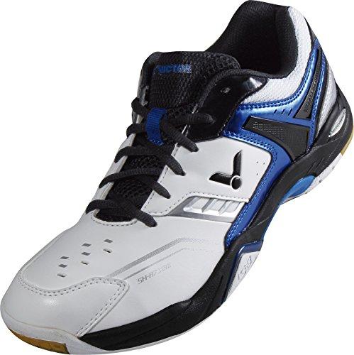 VICTOR SH-A710 Indoor Sportschuh / Badmintonschuh / Squashschuh / Hallenschuh, Weiß/Blau