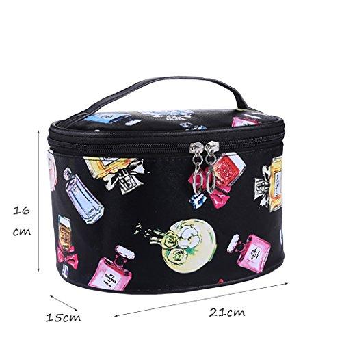 CLOTHES- Sacchetto cosmetico borsa portatile dellacqua della borsa di viaggio sacchetto della borsa di lavaggio piccolo sacchetto quadrato sveglio pacchetto semplice ( Colore : Blu ) Nero