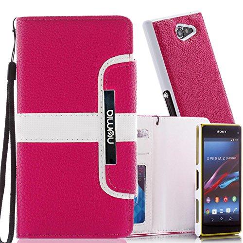 numia Schutzhülle für Sony Xperia Z Ultra Hülle [herausnehmbares Case] PU Leder Tasche Kartenfach [Pink]