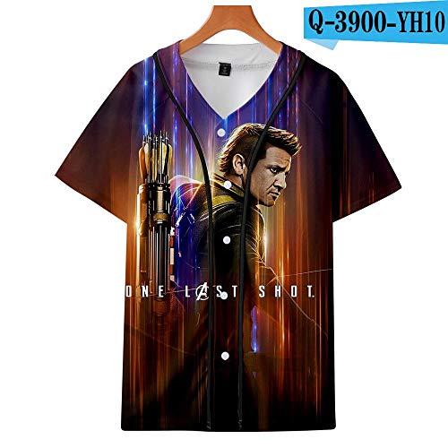 T-Shirt Avengers Endspiel T-Shirt Iron Man Raytheon Black Widow Hulk Kapitän Amerika Thanos Marvel Comics Superheld Kind Erwachsene Größe Baseball Anzug 5-XXS