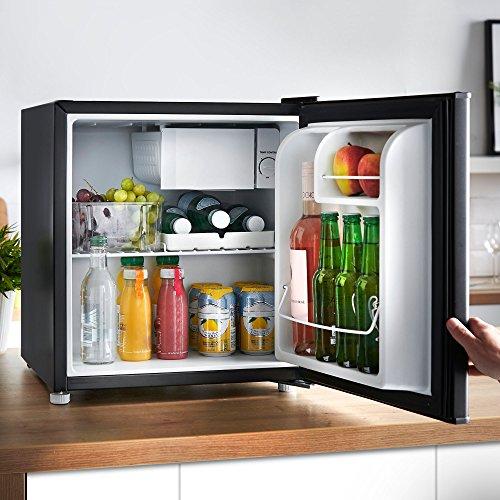VonShef 47L Mini-Kühlschrank mit Gefrierfach – Schwarz