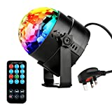 NIUBIER Mini Disco lights Disco balls- 3W 7 colors LED stage lighting Sound Activated RGB Party lights and Glitter ball with Remote Control,Music mini disco ball and Light weight rotating effective DJ Disco lighting for party ,KTV,Bar,Stage,Club,Easter Celebration