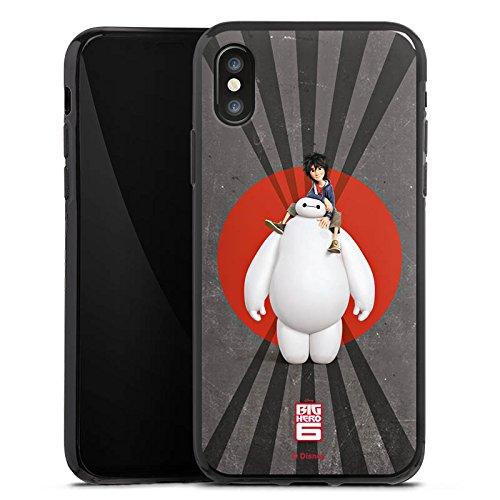 Apple iPhone X Silikon Hülle Case Schutzhülle Disney Baymax und Hiro Merchandise Zubehör Silikon Case schwarz