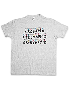 Urban Boundaries Alphabet T-Shirt – Fiaccolata Lettera Carattere Lights Alfabeto Series Ghost World Hell Letters...