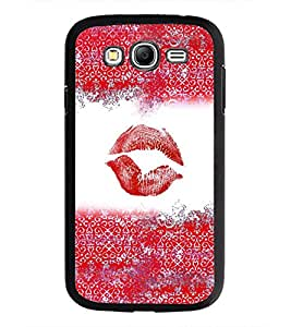 PrintDhaba Lips Impression D-4037 Back Case Cover for SAMSUNG GALAXY GRAND NEO PLUS (Multi-Coloured)