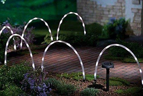 Garten Mile 6x LED Bogen Rohr Stab Lichter Solar betrieben Weihnachten Fee Rand oder Weg Beleuchtung, einzigartig Bright Weihnachtsbeleuchtung Außen Beleuchtung Einfahrt Kennzeichnung (Weihnachten Bögen Outdoor)