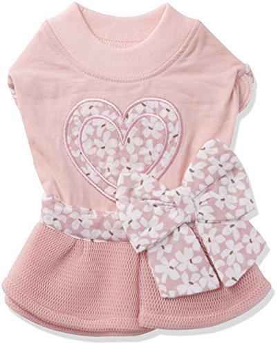 Pinkaholic Vestito per Cani NAQA-OP7224 (Rosa, Small)