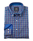 Savile Row Men's Multi Check Poplin Slim Fit Casual Shirt Large Standard