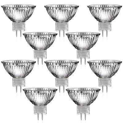 10er Set MR16 Halogen Strahler mit GU5,3 Sockel von parlat (warm-weiß, 12 Volt AC, 20 Watt, Lampe, Leuchtmittel, Haushaltspack, 12V, 20W)