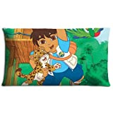 Floor Pillow Cases Shrink Resistant Healthy Zippered Polyester / Cotton Go Diego! Go! 20x36(inch) 50x90(cm)