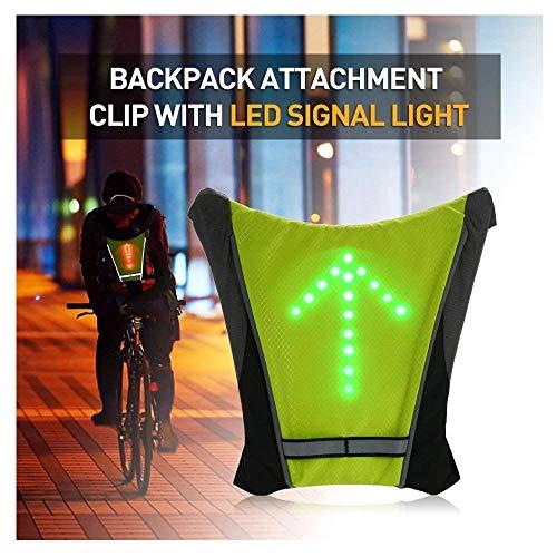 Radfahren Rucksack Zubehör W/LED-Blinker-Licht, Fahrrad-Fernsteuerungs-LED-Richtungsanzeiger Weste Reflektierende for Radfahren Laufen Sicherheit bei Nacht Wandern Wasserdicht jidesheying