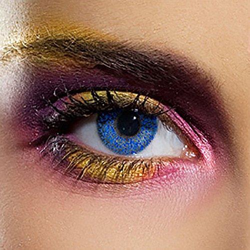 EDIT 90 Tage Farbige Kontaktlinsen Ohne Stärke (Glimmer Blau)