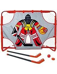 Hudora 57852 Set de hockey sur gazon avec but 150 x 110 x 60 cm, 2 crosses, 1 puck, 1