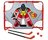 Купить HUDORA Hockey Set Street mit Torwand, rot, 150 x 110 x 60 cm, 57852