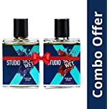 Set Wet Studio X Edge and Impact Perfume Spray For Men, 49ml (Pack of 2)