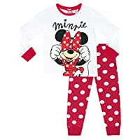 Disney Minnie Mouse Girls Minnie Mouse Pyjamas Ages 18 Months to 8 Years