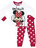 Disney Topolina - Pigiama a Maniche Lunghe per Ragazze - Minnie Mouse - 3-4 Anni