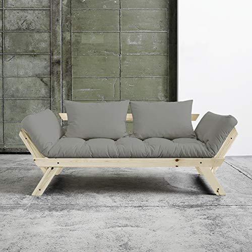 Alfred & Compagnie Soldes Couch Convertible + Futon Soren 75 x 200 Kiefer Natur lackiert -