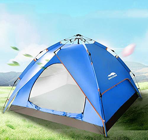 Tenda da spiaggia grande tenda da campeggio per 3-4 persone facile da montare automatica idraulica antipioggia per attività all'aperto caccia escursionismo arrampicata