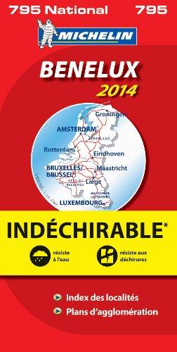 BENELUX HAUTE RESISTANCE / ONVERSCHEURBAAR 17795 CARTE ' NATIONAL ' MICHELIN KAART 2014 (KAARTEN/CARTES MICHELIN) par Michelin