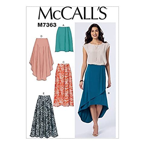 McCall's Patterns M7363 Misses' Elastic-Waist Pull-On Skirts, Size A5 (6-8-10-12-14) by McCall's Patterns