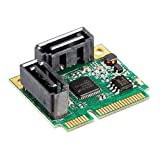 PerGrate 2 Anschlüsse SATA 6G Mini PCI-E PCI Express Karte SATA III 3.0 Konverter auf volle Größe Halterung SATA3.0